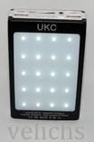 POWER BANK UKC LED панель , фонарик ,солнечная батарея 15000 мАч