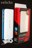 POWER BANK ''ATLANFA '' AT- D2017 12000 mAч 3 USB 3А +фонарик
