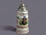 """Кружка пивная """"Гецог Вильгельм IV"""",1493-1450 г.г."""",Германия.Фарфор,олово,золочение."""