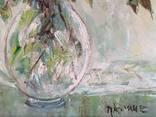"""Авторская Картина """" Розы в Вазе """". Холст, Масло в родной Раме., фото №9"""
