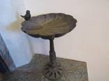 Чугунная садовая ваза кормушка для птиц