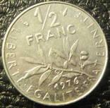 1/2 франка Франція 1976, фото №3