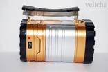 Фонарик (Power Bank, солнечная батарея) аккумуляторный туристический YD-3587 photo 3