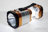 Фонарик (Power Bank, солнечная батарея) аккумуляторный туристический YD-3587 photo 7
