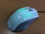 Мышь USB для ноутбука/компа Белая с меняющейся подсветкой. Новое. photo 2