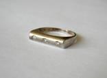 Серебряное кольцо, Серебро 925 пробы. Масса 3,16 грамма. Размер 16