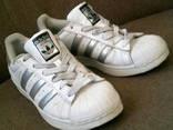 Adidas - фирменные белые кроссовки разм.40