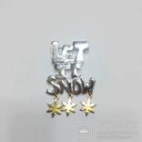 """Брошь """"Let it snow"""", фото №2"""