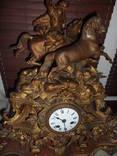 Каминные часы золоченные 19 века