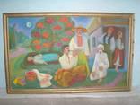 "Картина ""Калинова спільнота"", худ. Л.Спинатьева, холст, масло, без резерва"