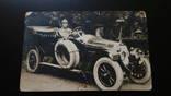 Фото военного в автомобиле 1913г Львов