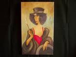 Холст,Масло. '' Дама курит. 2 .'' 30 * 50 см. photo 2
