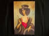 Холст,Масло. '' Дама курит. 2 .'' 30 * 50 см. photo 5