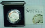 500-Франков Камерун Рак Серебро Сертификат Капсула