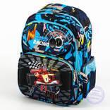 Школьный рюкзак для мальчика с жесткой массажной спинкой - синий - 124