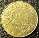 20 сантимів Франція 1988, фото №2