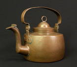 Старый медный чайник. Ручная работа. 3,5 л. 1,79 кг. Европа. (00947)