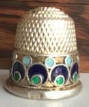 Серебряный наперсток в эмалях
