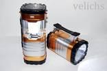 Фонарик (Power Bank, солнечная батарея) аккумуляторный туристический YD-3587
