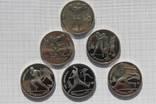 Полный набор монет ''Барселона'' 1991г. (6 штук). Перевыставление. photo 1