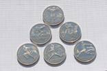 Полный набор монет ''Барселона'' 1991г. (6 штук). Перевыставление. photo 2