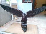 Деревянный резной орел времен ссср,
