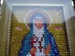 Икона в киоте св. муч. елизавета вышита бисером photo 2