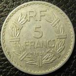 5 франків Франція 1946, фото №2