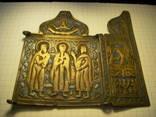 Складень:  Антипа, Флор и Лавр, избранные святые (не полный), фото №3