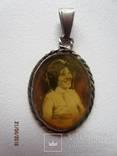 Медальон с Оригинальным фото,серебро 800 photo 1