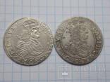 Два орта 1659,1668 год Ян Казимир кладовые