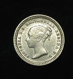 Великобритания 1 1-2 пенса 1843 аUnc серебро photo 2