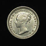 Великобритания 1 1-2 пенса 1843 аUnc серебро photo 3