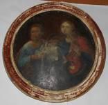 Антикварная икона святой Марк и Иоанн левкас темпера дерево