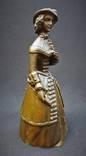 Коллекционный вызывной колокольчик Дама в шляпе Бронза photo 2