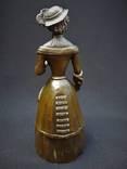 Коллекционный вызывной колокольчик Дама в шляпе Бронза photo 4
