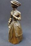 Коллекционный вызывной колокольчик Дама в шляпе Бронза photo 6