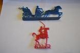 Тачанка синяя и кавалерист красный., фото №3