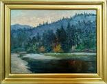 Карпатский пейзаж возле г. Сколе, автор художник Денис Иванцев(1910-2003)