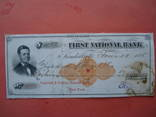США чек 1875 год на 16,52$ photo 1