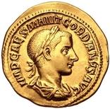 РИМСЬКА ІМПЕРІЯ, ГОРДІАН III, AD 238-244, Золотий Ауреус photo 1