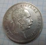 Монета Австрия 2 флорина Серебро 1889 год photo 1