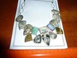 Ожерелье из натуральных дендрит опалов и кварцевых друз photo 1