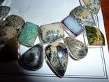 Ожерелье из натуральных дендрит опалов и кварцевых друз photo 2