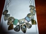 Ожерелье из натуральных дендрит опалов и кварцевых друз photo 3