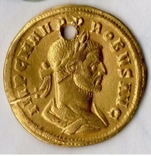 Золотой ауреус имп. Проба (276-282г)
