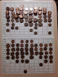 1 цент - более 300 шт и 1 шт 1973 с S