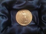 Золотая монета 20 долларов Сент Годенса 1910 года photo 2
