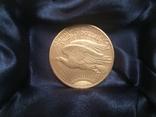 Золотая монета 20 долларов Сент Годенса 1910 года photo 3