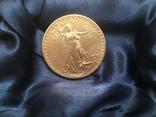 Золотая монета 20 долларов Сент Годенса 1910 года photo 4